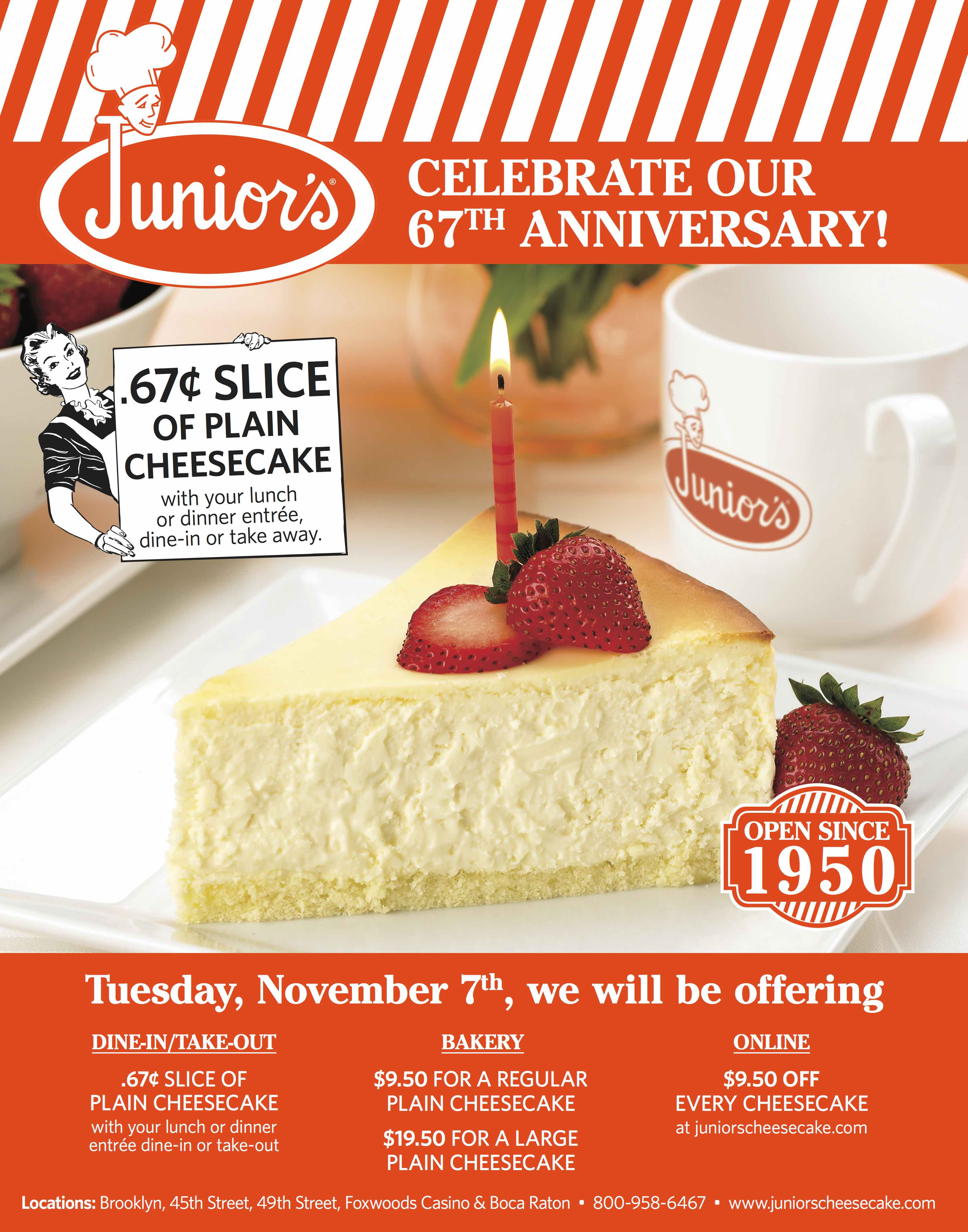 Get Ready to Celebrate our Anniversary! Tuesday November 7th!