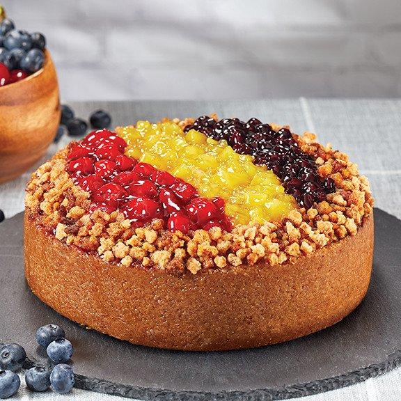 Three Fruit Cheesecake on plate