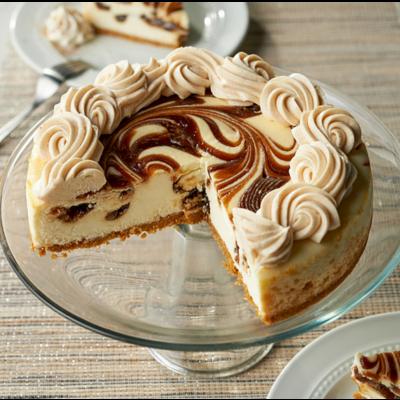 Cinnamon Swirl Cheesecake on plate