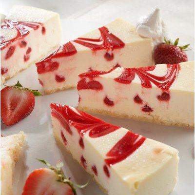 Strawberry Swirl Cheesecake- Sliced 14